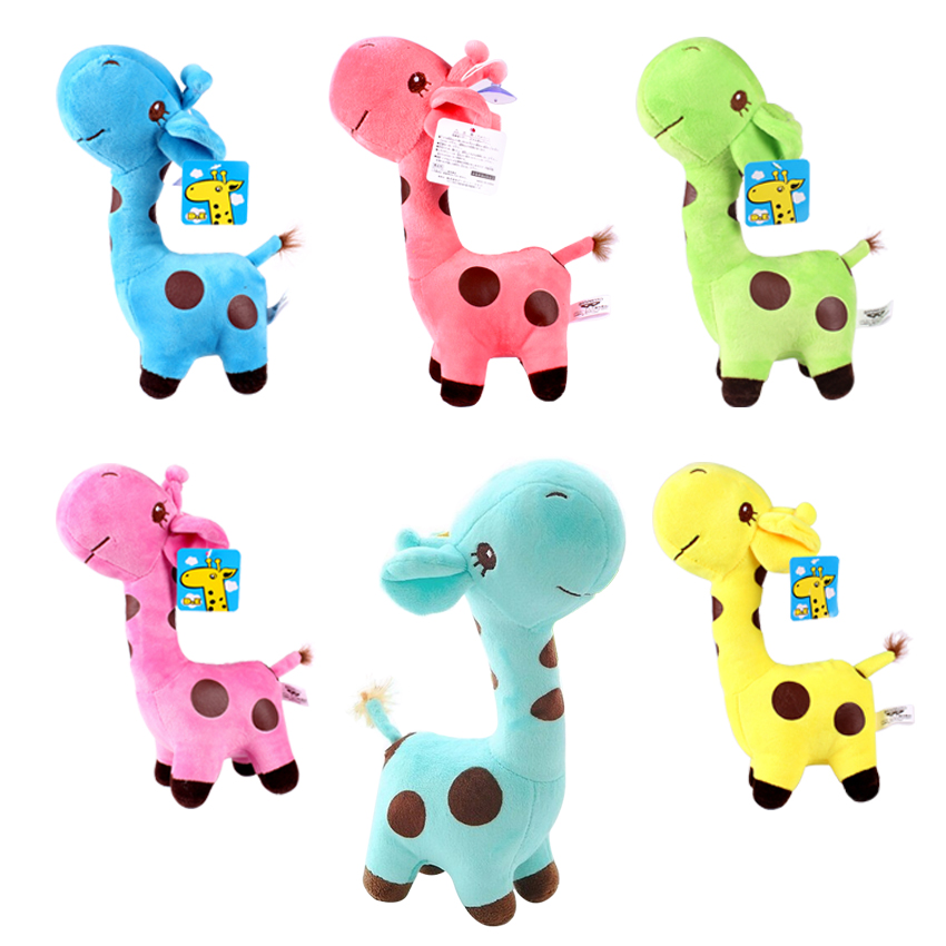 1pcs718cm so Cute Baby Toys Rainbow Giraffe Plush Toys Dolls For Kids Brinquedos kawaii gift for your friends on 7 Colors