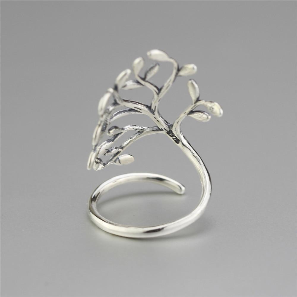 Moonmory 925 Sterling Silver Spiring Little Tree Åben Ring Til - Mode smykker - Foto 2