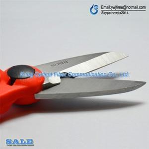 Image 3 - Japan 1PCS RUBICON Brand RCZ 527 non slip plastic handle optical fiber scissors especially used for Kevlar lines cutting