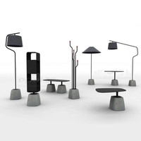 Nordic Modern Cement Base LED Fabric Floor Lamps Bedroom Living Room Bed Front Lights Iron Building Standing Lamps Fixtures