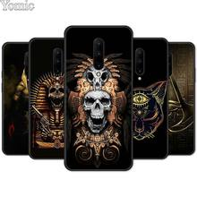 Egypt Nefertiti Anubis Ankh Black Soft Case for Oneplus 7 7 Pro 6 6T 5T Silicone Phone Case for Oneplus 7 7Pro TPU Cover Shell