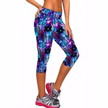 5894e4f64f9bc 8 color capri pants women leggings fitness workout sport yoga pants running  tights jogging trousers skinny fitted stretch pants