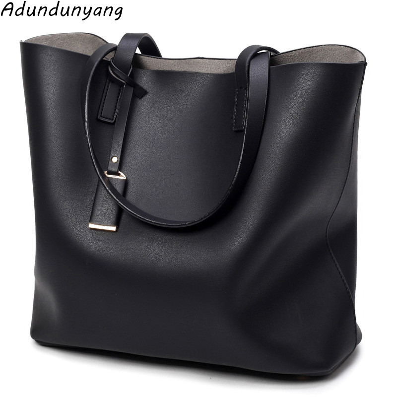 2018 Fashion vintage Women Bag Ladies Brand Leather Handbags Spring Casual Tote Bag Big Shoulder Bags For Woman aosbos fashion portable insulated canvas lunch bag thermal food picnic lunch bags for women kids men cooler lunch box bag tote