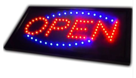 LED Open Sign Advertising Light <font><b>Billboard</b></font> Shopping Mall Bright Animated Motion Business Store Open Shop <font><b>Billboard</b></font> image