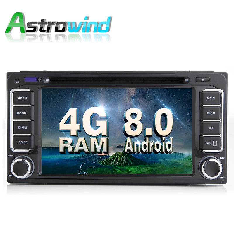 4G RAM,32G ROM,Android 8.0 Car GPS Navigation System DVD Player Radio Stereo Media For Toyota Corolla Camry Rav4 Vios TPMS DAB+
