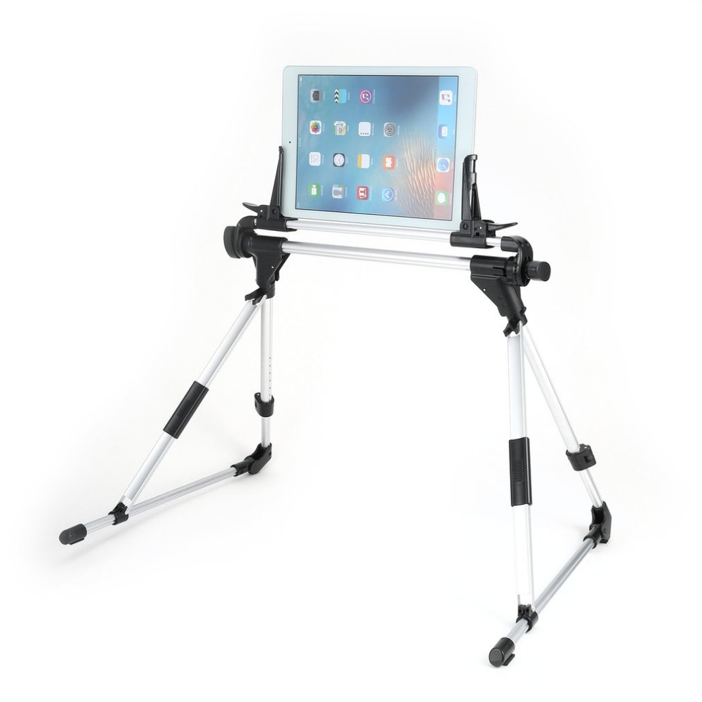 Auto Lock Foldable Tablet Stand Holder Bed Floor Desktop Lazy Mount Bracket for iPad air 2 3 4 5 mini Samsung Nexus 7 Hot Sale light portable foldable abs desktop holder station for iphone 4 5 ipad 3 4 white blue