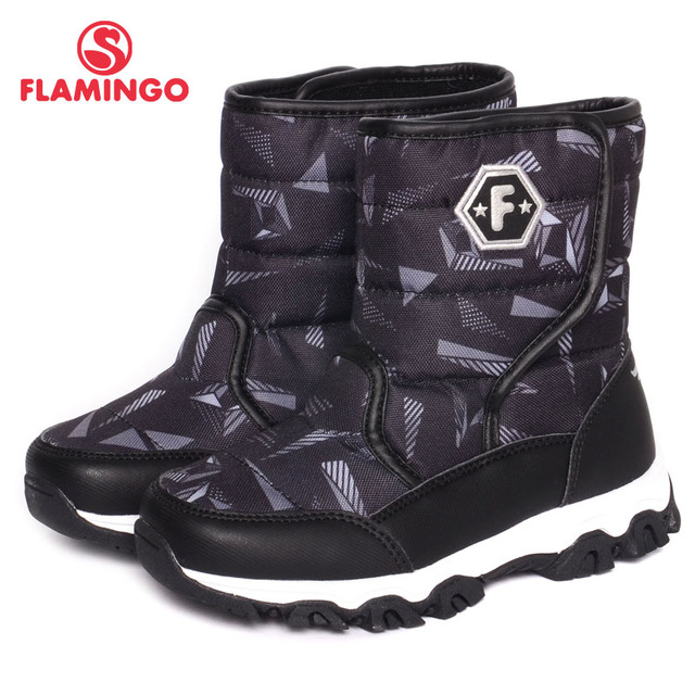 FLAMINGO 2016 new collection winter fashion snow boots with wool quality anti-slip kids shoes for boy W6NQ081/082