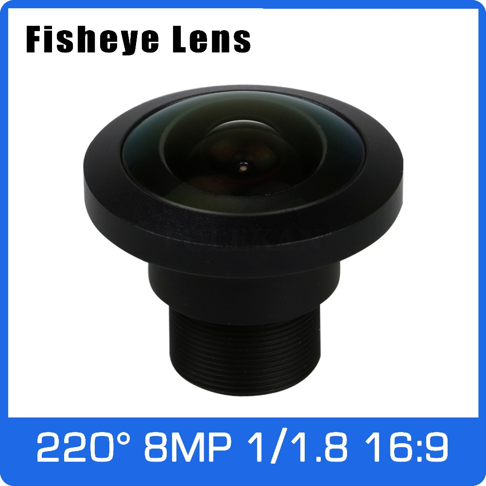 4K Lens 8Megapixel Fisheye 1/1.8 inch 220 Degree M12 Lens 1.13mm For IMX178/IMX226 16:9 Sensor 4K Camera Free Shipping 8megapixel varifocal cctv 4k lens 1 1 8 inch 3 6 10mm cs mount dc iris for sony imx178 imx274 box camera 4k camera free shipping
