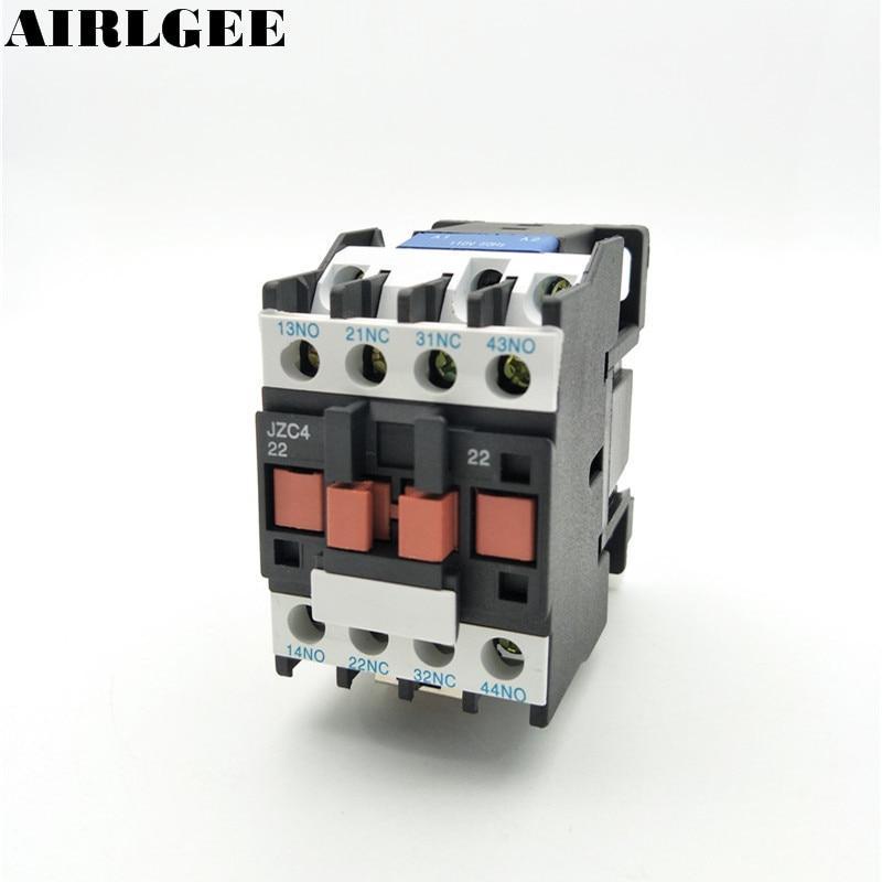 JZC4-22 Contactor relay 24 36 110 220 380V Coil 3P 3Phase 2NO+2NC AC Contactor 10A Ui 690V