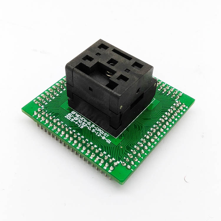 IC550-0484-004-G Programming Socket QFN48 MLF48 IC Test Adapter Pitch 0.5mm Clamshell Chip Size 7*7 Flash Adapter Burn in Socket