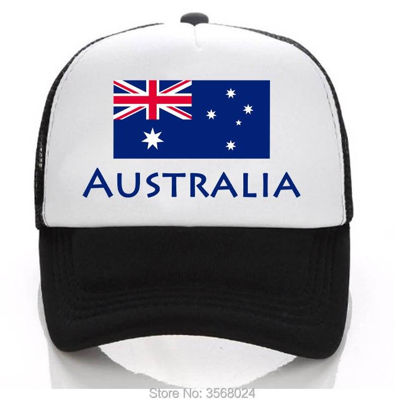 3750fdb185d 2018 football Adult  Children Australia Football Trucker Cap AUSTRALIA Flag  Men Snapbacks Women Sun Hat Adjust Kids-in Baseball Caps from Apparel ...