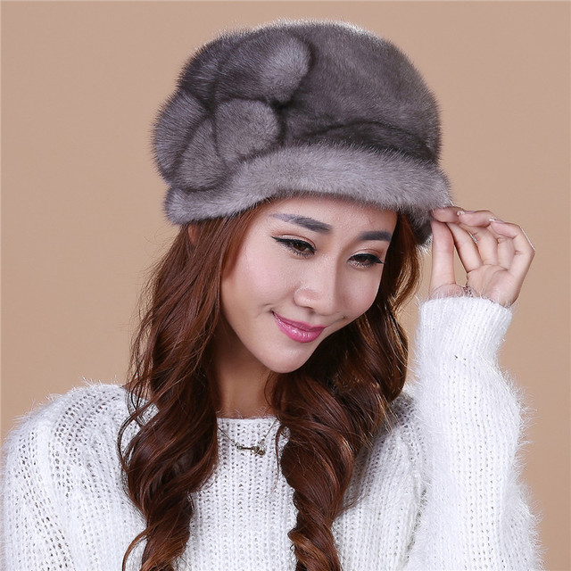2016 Hot selling Lady's the new mink fur mink hat knit cap children winter thickening warm winter hat free shipping/3color.#SD21