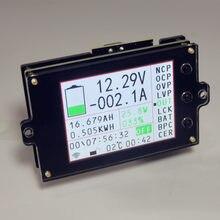 Dc 500 v medidor de tensão sem fio amperímetro bateria solar tester carga coulômetro capacidade detector energia