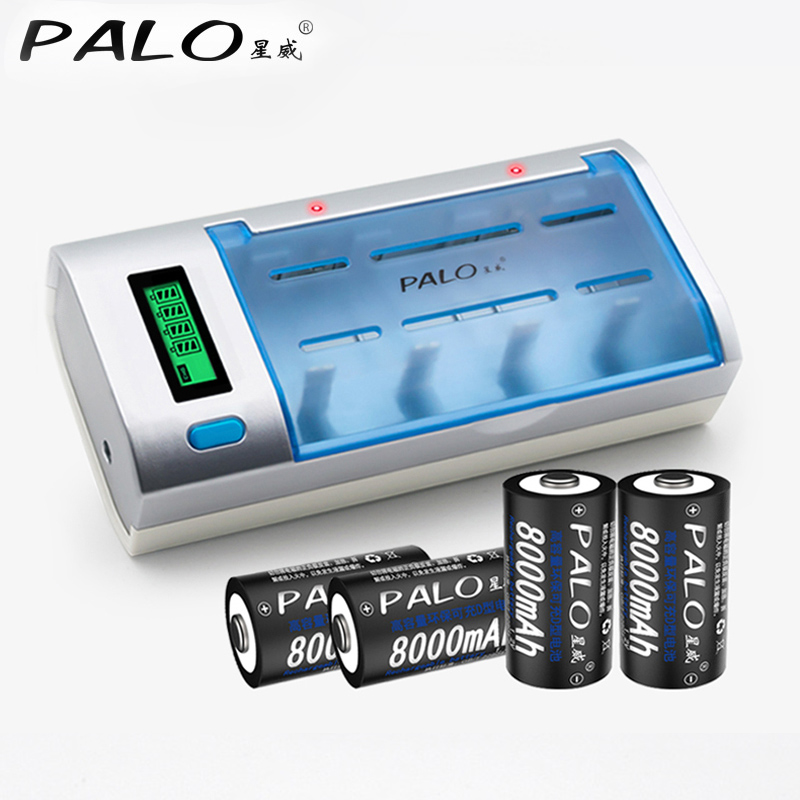 Lcd Display Battery Charger For Aa Aaa Sc C D 9v Battery