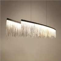 Postmodern Designer Chandeliers Nordic Tassel Restaurant Luxury Hotel Engineering Chain Living Room Art Hanging Lights