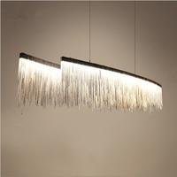 Postmodern Designer Chandeliers Nordic Tassel Restaurant Luxury Hotel Engineering Chain Living Room Art Hanging Lights