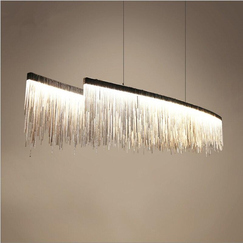 Design moderno Nordic nappa catena di ingegneria albergo ristorante lampadari di lusso soggiorno arte appendere le luci