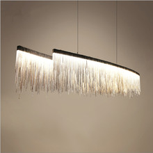 Modern designer Nordic tassel restaurant luxury chandeliers hotel engineering chain living room art hanging lights(China)