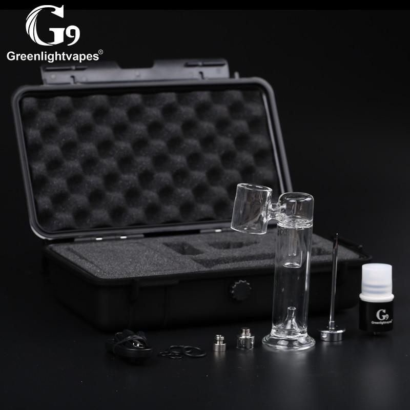 G9 510 clou plus plate-forme Enail réservoir atomiseur concentrés vaporisateur Quartz chambre verre filtre Dab barboteur pour boîte Mod stylo batterie C