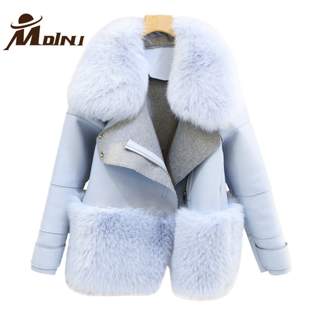 Aliexpress.com : Buy Fur & Faux Fur Coat For Women Denim Tops ...