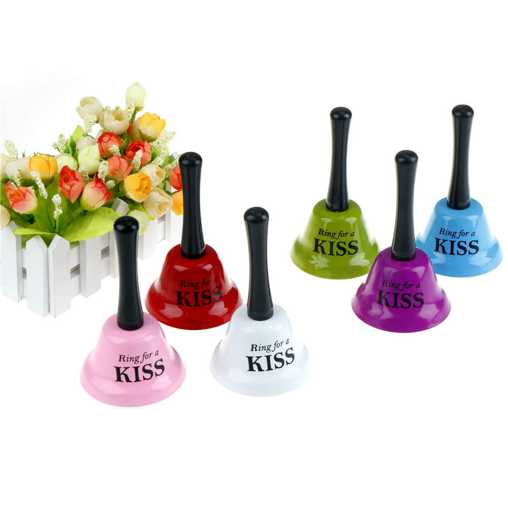 Funny Small Handbell Party Toy Gag Gift Joke Game Prop Ring for Tea/Beer/Hug/Love/Kiss/Sex Bachelorette Hens Stag Gifts