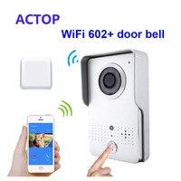 จัดส่งฟรี!!โทรศัพท์สมาร์ทiSO A Ndroidรีโมทปลดล็อคWiFi/IPวิดีโอประตูโทรศัพท์+ไร้สายประตูกล้องระฆั