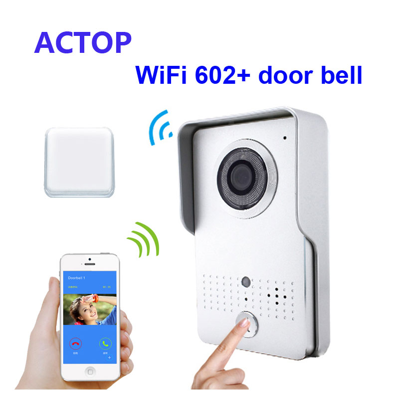 Free Shipping Smart phone iSO Android Remote control unlock WiFi IP video font b door b