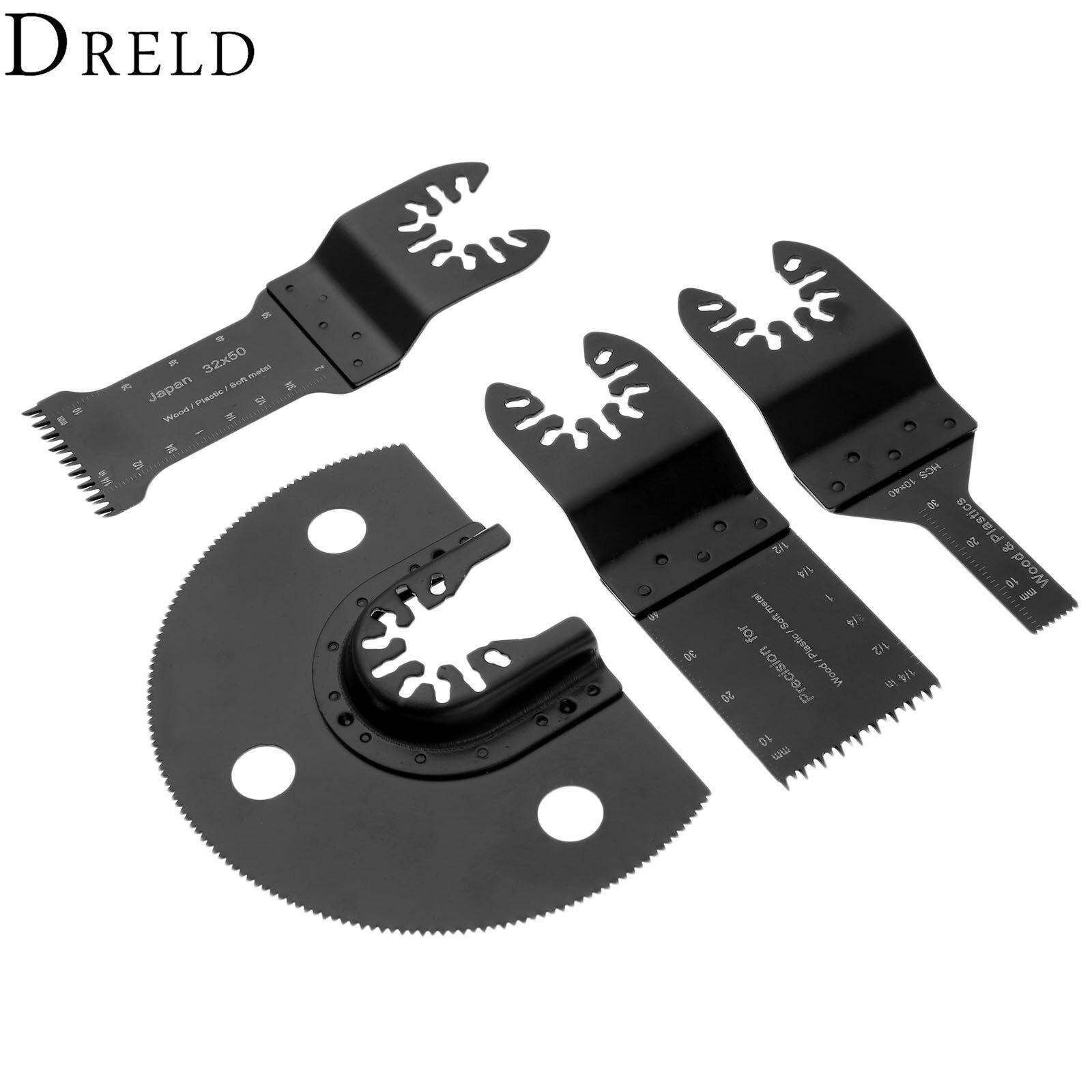DRELD 4pcs/set Oscillating Multi Tools HCS Saw Blade For Multimaster Fein Dremel Renovator Bosch Power Tool For Metal Cutting