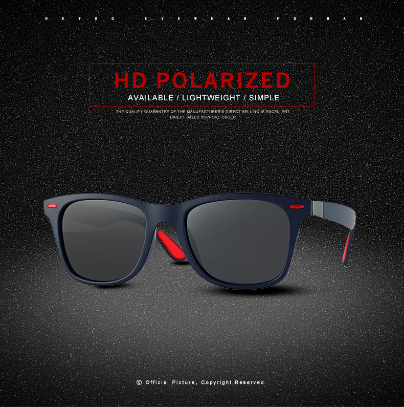 ASUOP 2019 new square polarized men`s sunglasses UV400 fashion ladies glasses classic brand designer sports driving sunglasses (8)