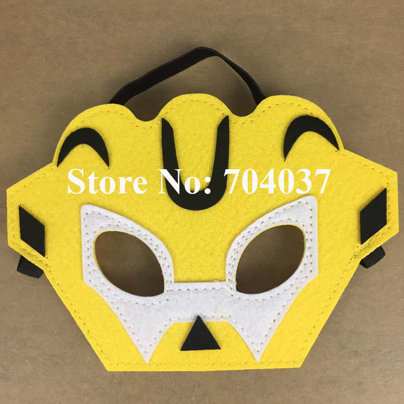 30 pieceslot new birthday party supplies kids felt mask fancy transformers rescue - Halloween Party Store