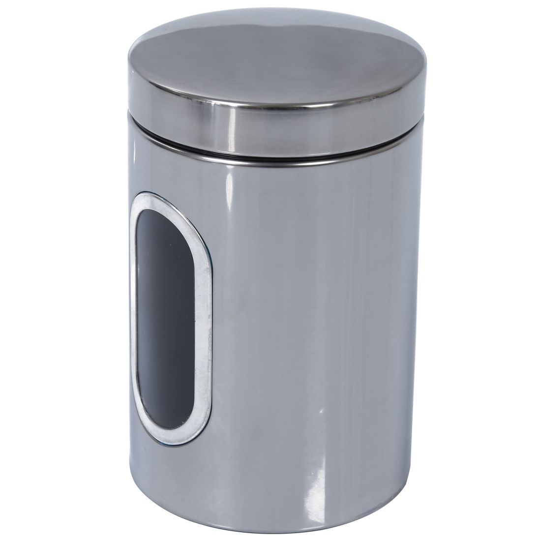 online get cheap stainless steel canister set aliexpress com 3pcs stainless steel window canister tea coffee sugar nuts jar storage set silver