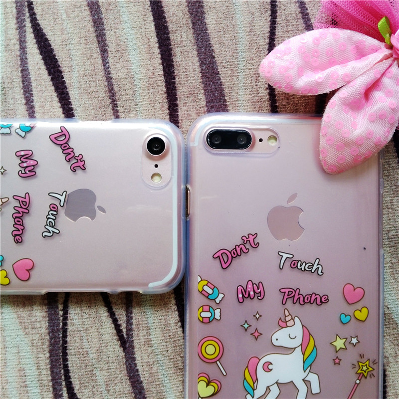 HTB1nsfLRFXXXXc2XFXXq6xXFXXXE - FREE SHIPPING For iPhone 7 7Plus 6 6s Plus 5 5s 3D Rainbow Unicorn Case Horse Cute Cartoon Silicone Rubber Soft Cell Phone Cover Shell