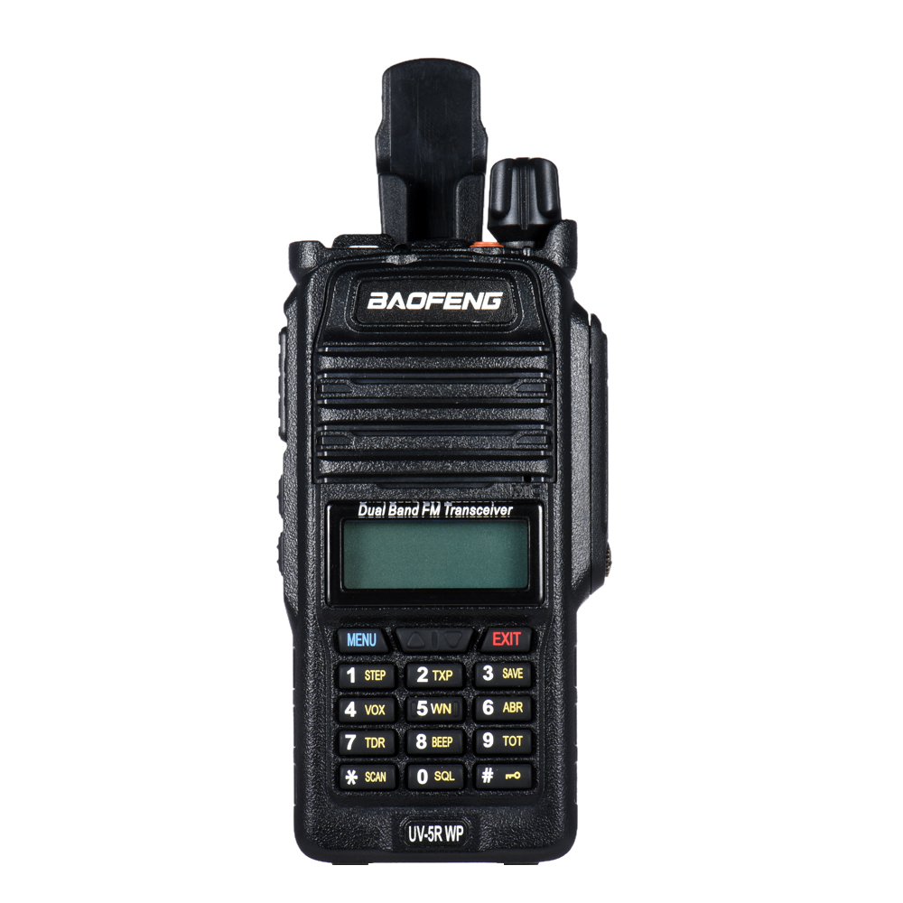 2pcs BAOFENG UV 5R WP Walkie Talkie IP67 Waterproof VHF UHF Two Way Radio 10 km