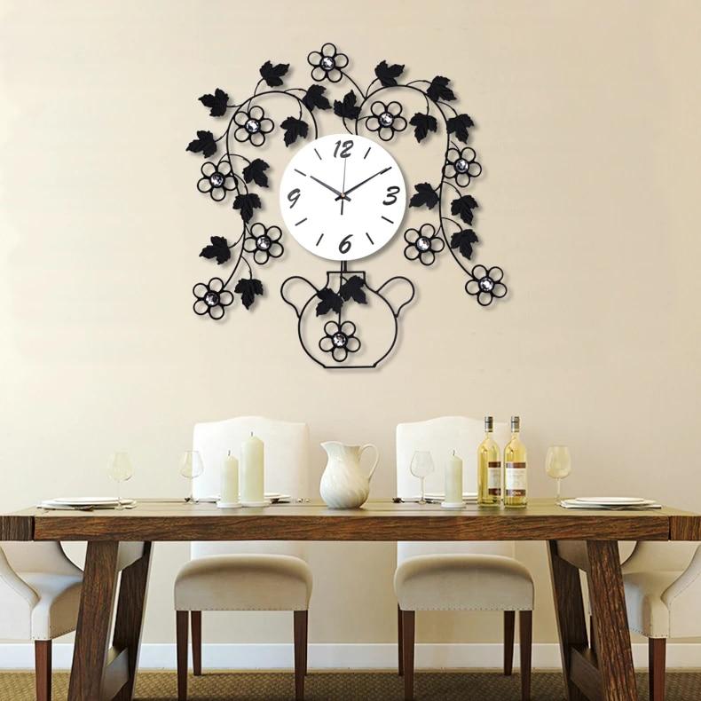 Creative Wall Clock Living Room Modern Minimalist Bedroom Wall Decoration Mute Clocks Ornaments Wall Mounted Clocks Pendulum Clock Pendulum Wall Clock Living Roomwall Clock Aliexpress