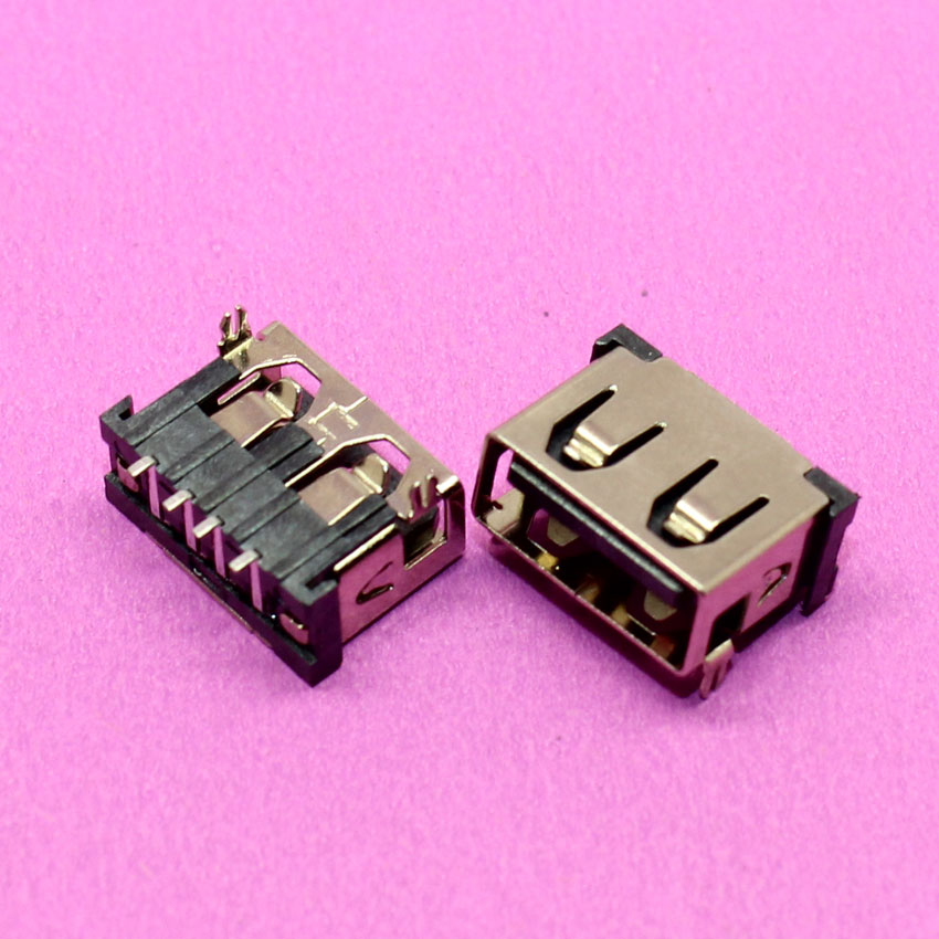 YuXi 100pcs/lot 2.0 USB Jack Socket Port Connector for Lenovo / Asus / Dell / HP ... Laptop USB2.0 Port Short body