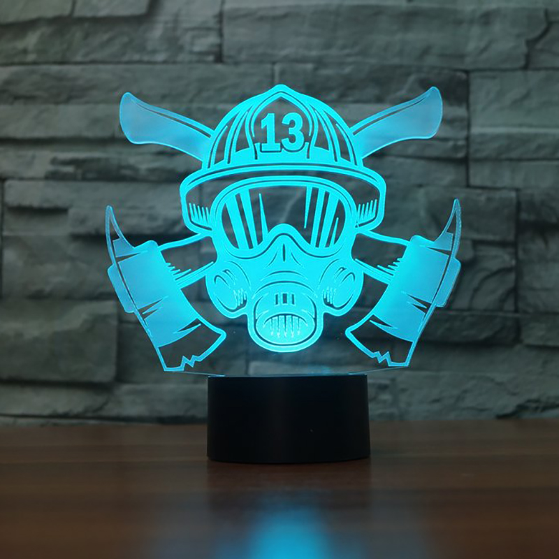 3D Firefighter Mask Modelling Table Lamp LED 7 Colors Changing Night Light Novelty Sleep Lighting Home Decor USB Luminaria Gifts3D Firefighter Mask Modelling Table Lamp LED 7 Colors Changing Night Light Novelty Sleep Lighting Home Decor USB Luminaria Gifts