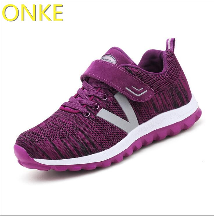 ONKE New listing hot sale Spring and autumn Fly weaving Breathable women running shoes sneakers A75