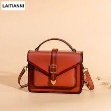 hot deal buy flap bags women genuine leather female messenger bags 2018 belt buckle purse fashion handmade lady crossbody bags