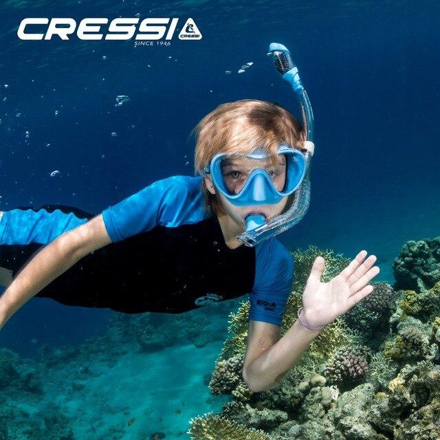 Cressi F1 pequeño + Mini seco niños Snorkel de máscara de buceo