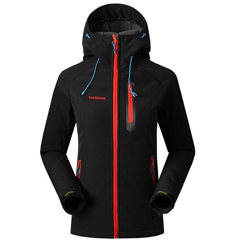 SAENSHING Softshell kabát női márka vízálló eső kabát kültéri túrázás ruházat női szélálló puha Shell gyapjú kabátok