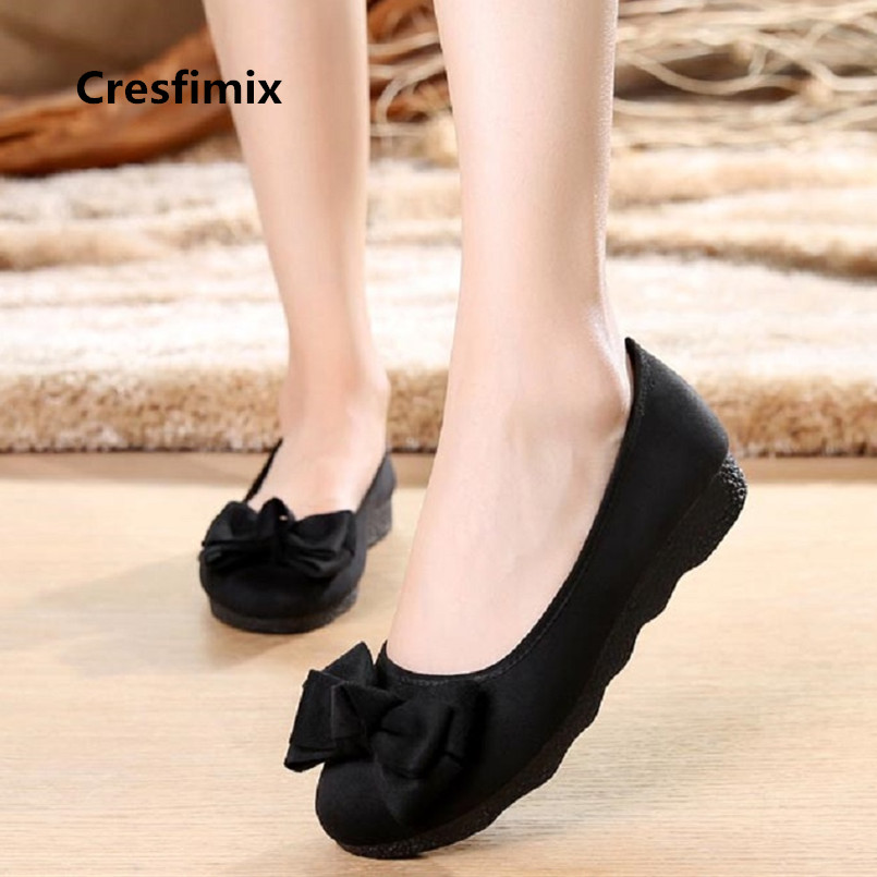 Cresfimix vrouwenschoenen women fashion light weight black bow tie flat shoes lady retro ballet dance shoes casual shoes a3529Cresfimix vrouwenschoenen women fashion light weight black bow tie flat shoes lady retro ballet dance shoes casual shoes a3529
