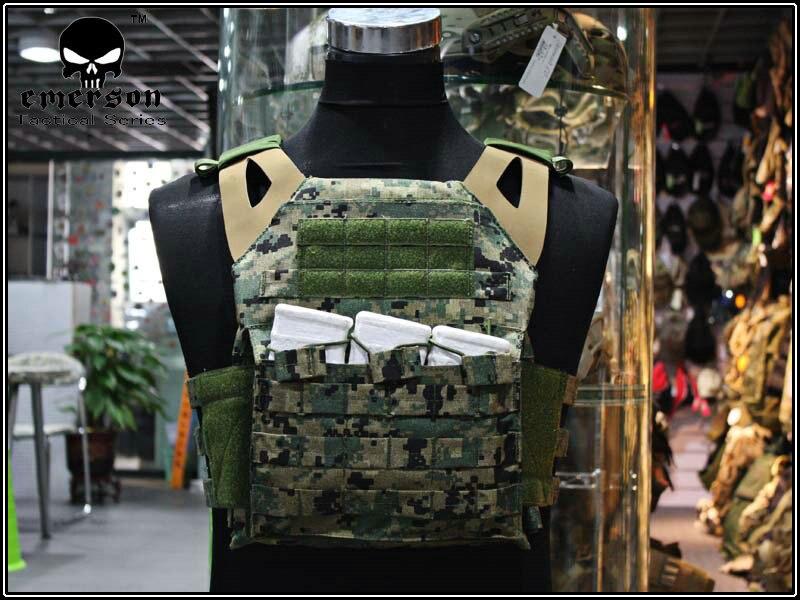 EMERSON JPC gilet version simplifiée Jungle numérique Airsoft Combat Gear jumper porteur EM7344D JD