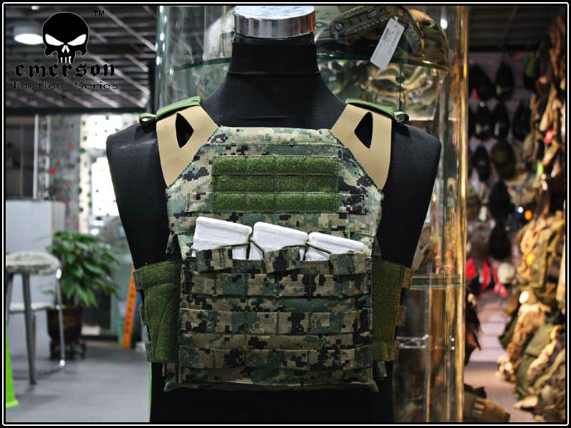 EMERSON JPC Vest simplified version Jungle digital Airsoft Combat Gear jumper carrier EM7344D JD цена