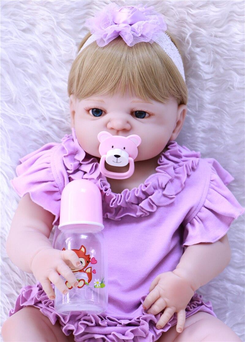 DollMai reborn bébés fille poupées corps complet silicone poupées reborn 22