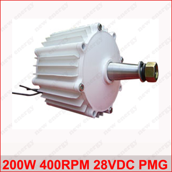 200W 400RPM 28VDC low rpm horizontal wind & hydro alternator/ permanent magnet water power dynamotor hydro turbine