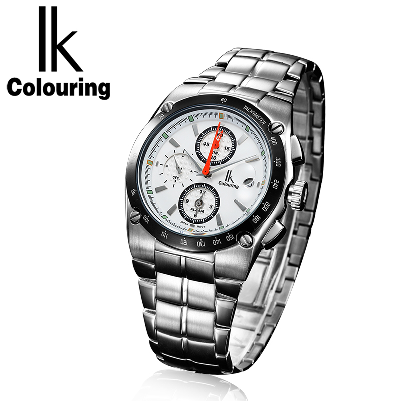 relogio masculino IK Mens Watches Top Brand Luxury Fashion Business Quartz Watch Men Sport Full Steel Waterproof Wristwatch цены