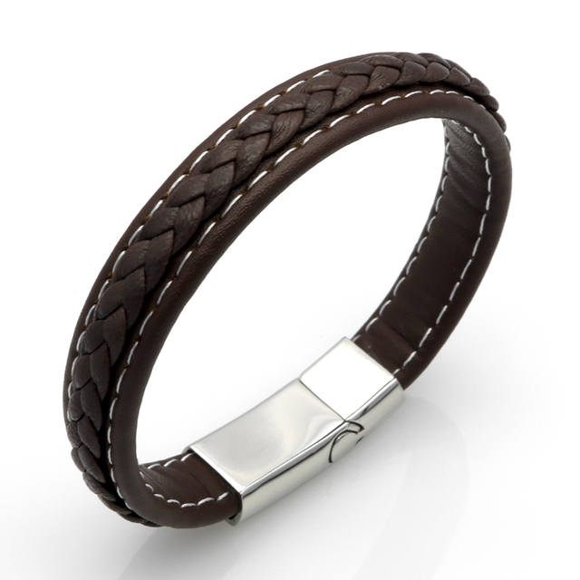 Men Genuine Leather Braided Bracelet