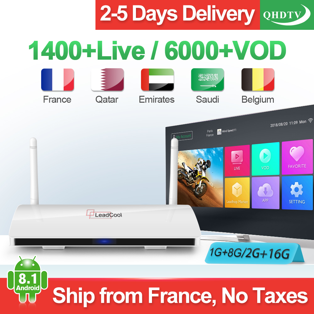 Leadcool IPTV France arabe IP TV abonnement RK3229 1 + 8G/2 + 16G Android 8.1 QHDTV abonnement France IPTV belgique 1 an QHDTVLeadcool IPTV France arabe IP TV abonnement RK3229 1 + 8G/2 + 16G Android 8.1 QHDTV abonnement France IPTV belgique 1 an QHDTV