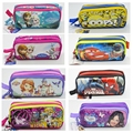 new boy girl cartoon pencil case bag kawaii School Pouches cute 2 zipper children student pen sack stationery kids gifts prize