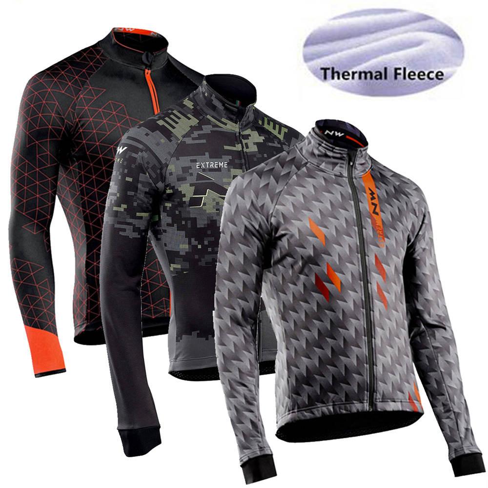 Males Winter Thermal Fleece Biking Jersey Heat Biking Shirt Ropa De Ciclismo Highway Using Bike Clothes